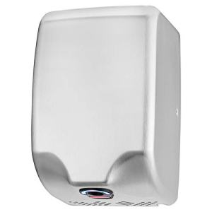 ZHAOTAI Commercial Hand Dryer 120V/1350W Powerful Automatic Sensor High Speed with Low Noise 70db Hot/Cold Air Stainless Steel 304 Cover Innovative Compact Design Easy Installation