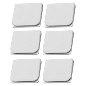 EONMIR 6 Pack Windproof Stop Protect Clips, Shower Splash Guard Curtain Clip, Self Adhesive Shower Curtain Clips Splash (White)