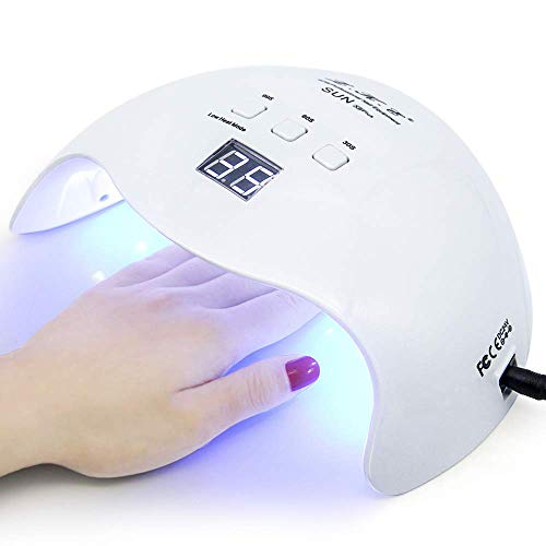 Gel UV LED Nail Lamp,LKE Nail Dryer 40W Gel Nail Polish UV LED Light with 3 Timers Professional Nail Art Tools Accessories White
