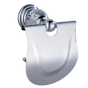 WINCASE Silver Toilet Paper Holder Roll Tissue Holder, European Modern Chrome Finished Surface Bathroom Accessories All Zinc Alloy Construction Wall Mounted