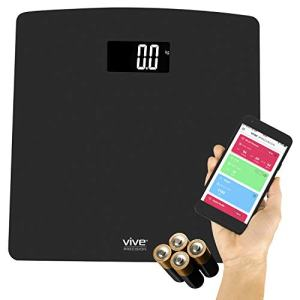Vive Precision Smart Digital Weight Scale - Accurate Bathroom Electronic Body Measuring - Heavy Duty Wireless Home, Bath Device - Weigh in Pounds, Kilograms, Stones - Large Screen with Smartphone App