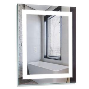"Homewerks 100150 White 24""x30"" LED Bathroom Mirror, Anti Fog Wall Mounted Horizontal or Vertical Vanity, 5000 Kelvin, Bright Daylight Color Temperature Light"