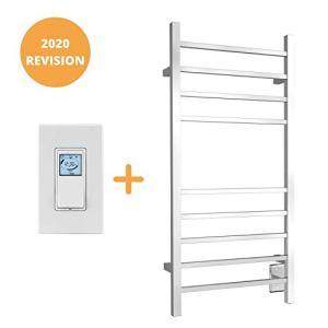 WarmlyYours 10-Bar Metropolitan Towel Warmer, Hardwired, Polished Stainless Steel