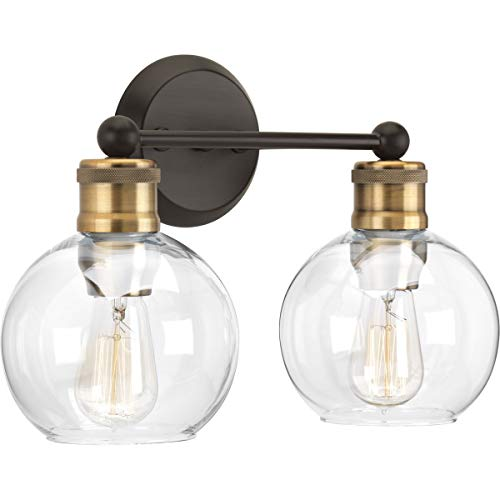 Hansford Collection Antique Bronze Two-Light Vintage Wall Light