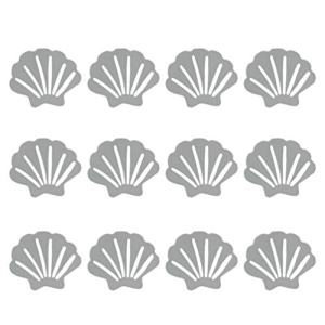 TOPBATHY Bathtub Stickers Non Slip Sea Shell Shaped Safety Shower Treads Adhesive Appliques Bathroom Floor Decals 12pcs