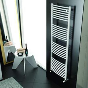 Cordivari Lisa Towel Warmer w/Valve kit Curved 20''x28'' Hydronic Towel Rail Italy Design