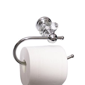 Nokozan Luxury Crystal Series Toilet Paper Holder Wall Mouted, Chrome