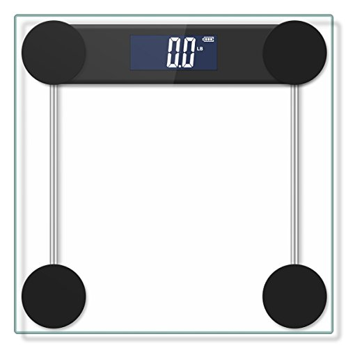 Digital Bathroom Scale, Body Weight Scale with Large Backlit Display, High Accuracy Step-On Technology, 400 Pounds