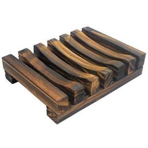 Onwon Hawaii Style Bathroom Accessories Handmade Natural Wood Soap Dish Wooden Soap Holder