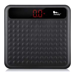 Digital Body Weight Bathroom Scale, Step-On Technology High Precision Measurements with Large Non Slip Silicone Platform and LCD Digital Display, 400lbs/180kg Capacity