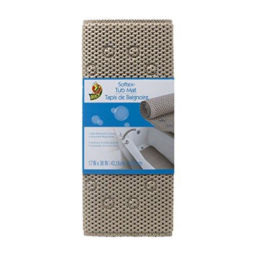 Duck Brand Softex Bath Mat, 17 in. x 36 in, Taupe (442097)