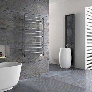 HEATGENE Towel Warmer Wall Mount Electric Plug-in/Hardwired Heated Towel Rack Brush Finish