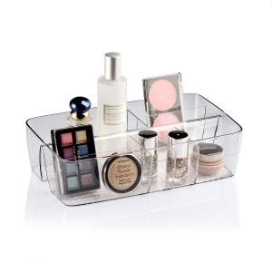 Marchpower Make up Organizer Brush Holder Cosmetic Display Case Lotion Powder Lipstick Collection Box Bathroom Office Kitchen Countertop Storage Cabinet -8 Compartments (Clear)