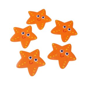 OUNONA 5PCS Non Slip Bathtub Stickers Safety Shower Treads Anti-Slip Bathtub Appliques for Bathroom (Orange)