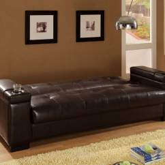 Sofa Storage Racks Billy Bobs Sofas Beds Faux Leather Convertible Sleeper With
