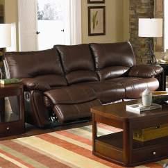 Double Reclining Leather Sofa Poltrone E Divani Relax Prezzi Clifford Brown Quality