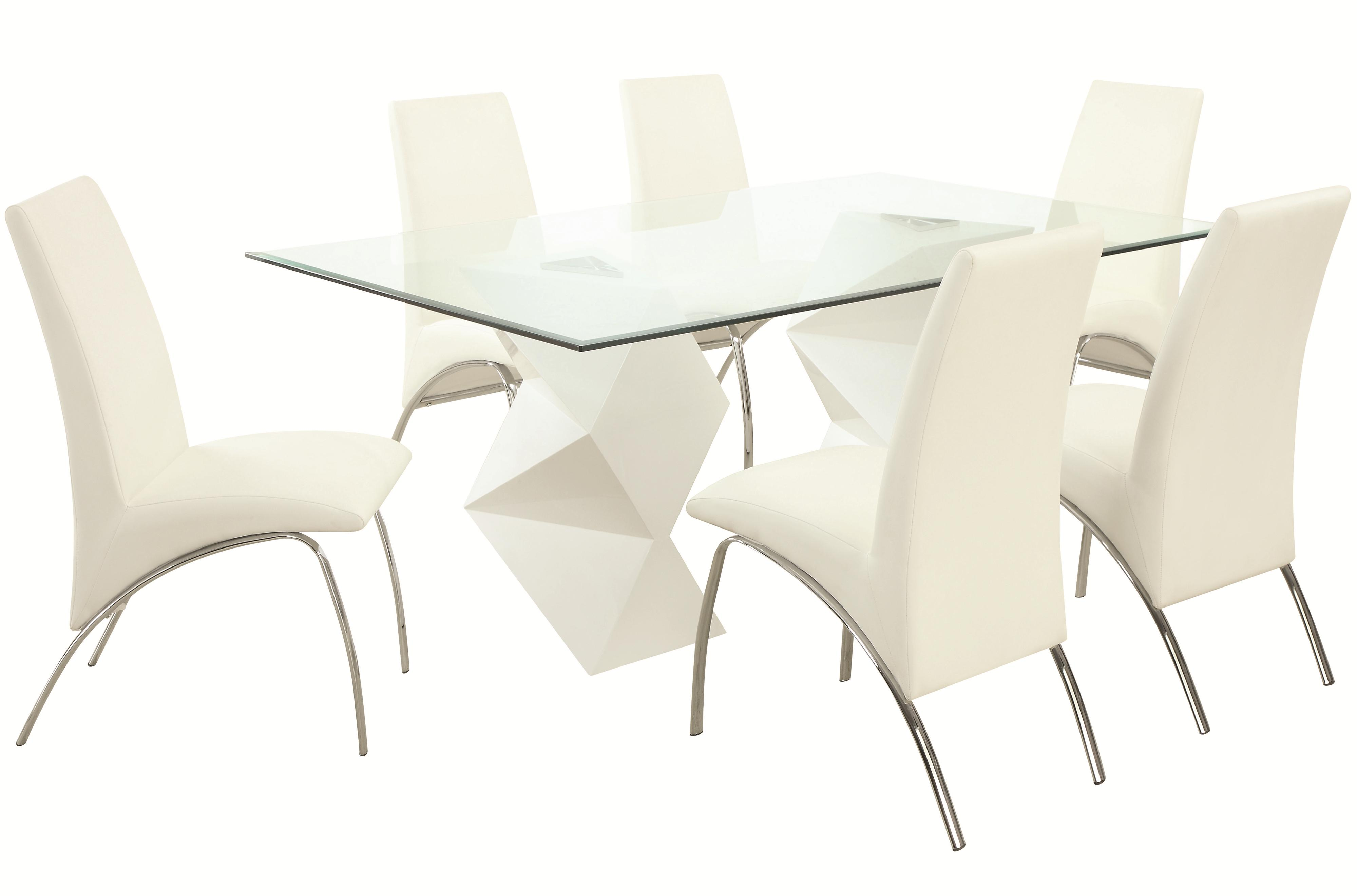 Ophelia Contemporary Seven Piece Dining Set With