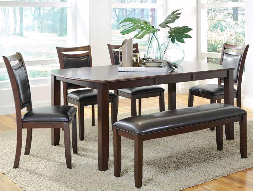 Dupree Casual Dining Table  Bench with 4 Side Chairs