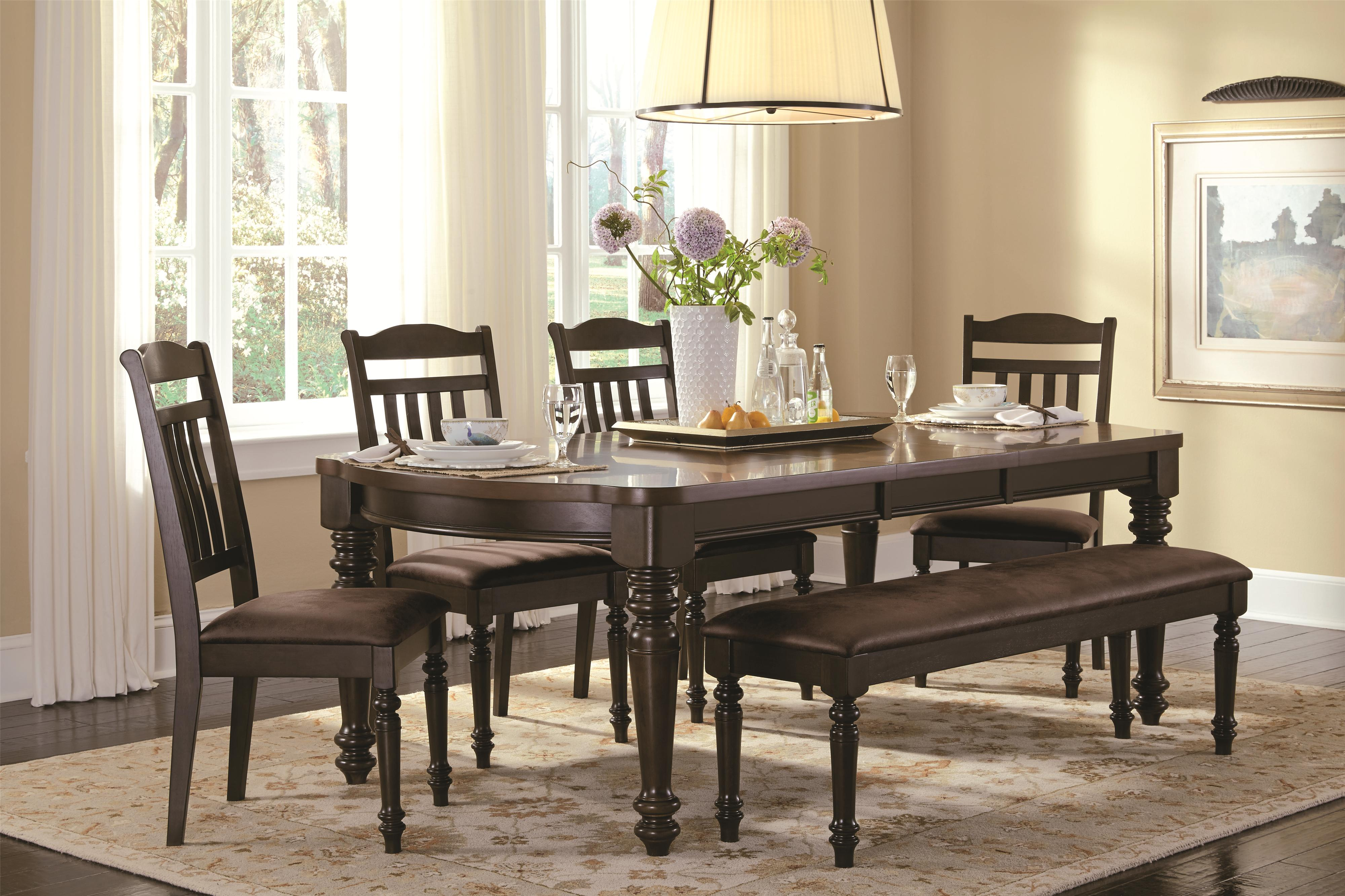 Bench Chairs Mulligan Country Style Table And Chair Set With Bench