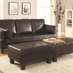 Chocolate Brown Leather Sectional Sofa With 2 Storage Ottomans 4 Less Concord Ellesmere Contemporary Bed Group