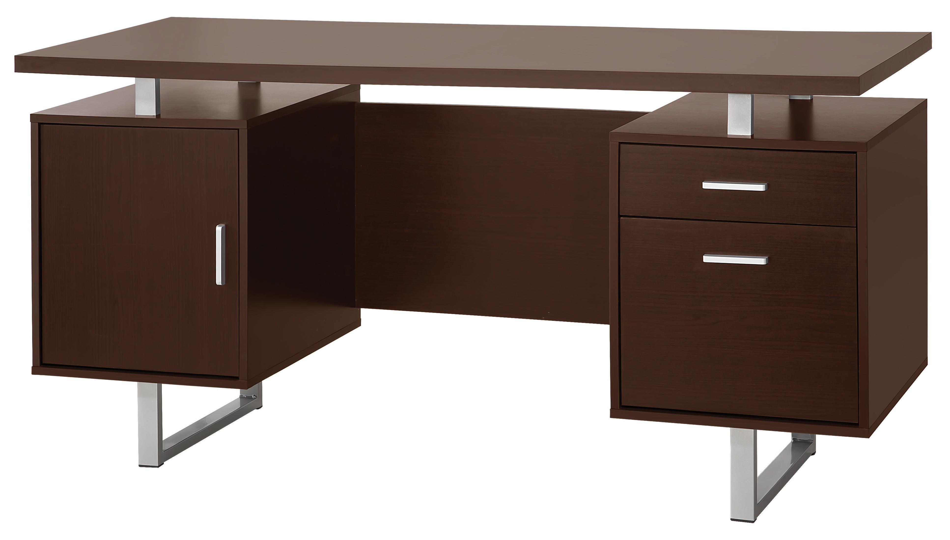 Glavan Contemporary Double Pedestal Office Desk with Metal