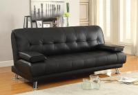 Sofa Beds and Futons Faux Leather Convertible Sofa Bed ...