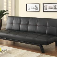Contemporary Sofa Bed Valencia Leather Recliner Beds And Futons In Black
