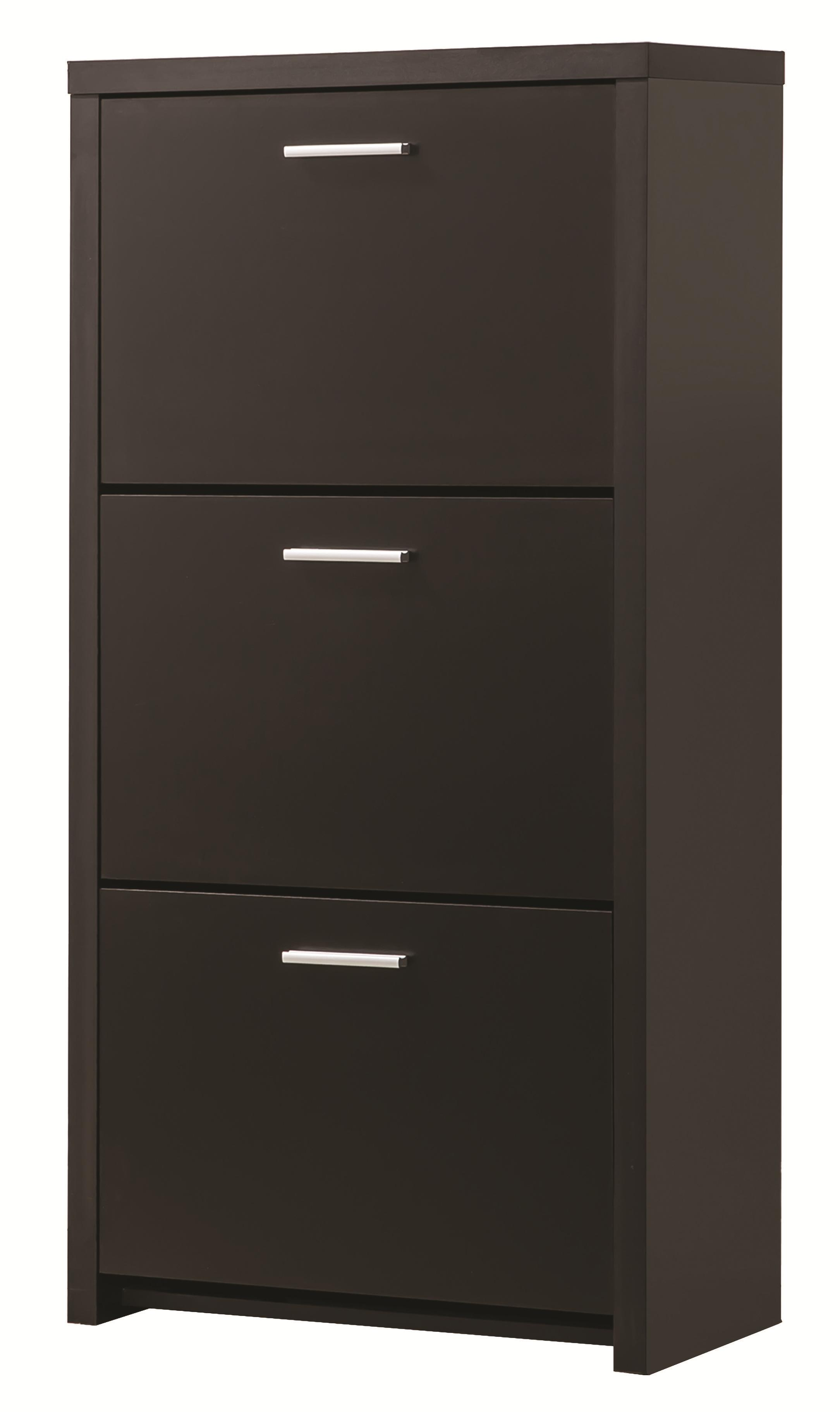 Accent Cabinets Tall 3Drawer Shoe Cabinet  Quality