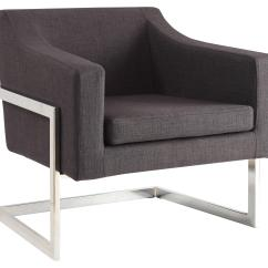 Modern Art Chair Covers And Linens Cape Cod Beach Hours Accent Seating Contemporary In Grey Linen