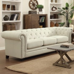 Oatmeal Sofa Leather Beige Roy Traditional Linen Blend Quality Furniture At