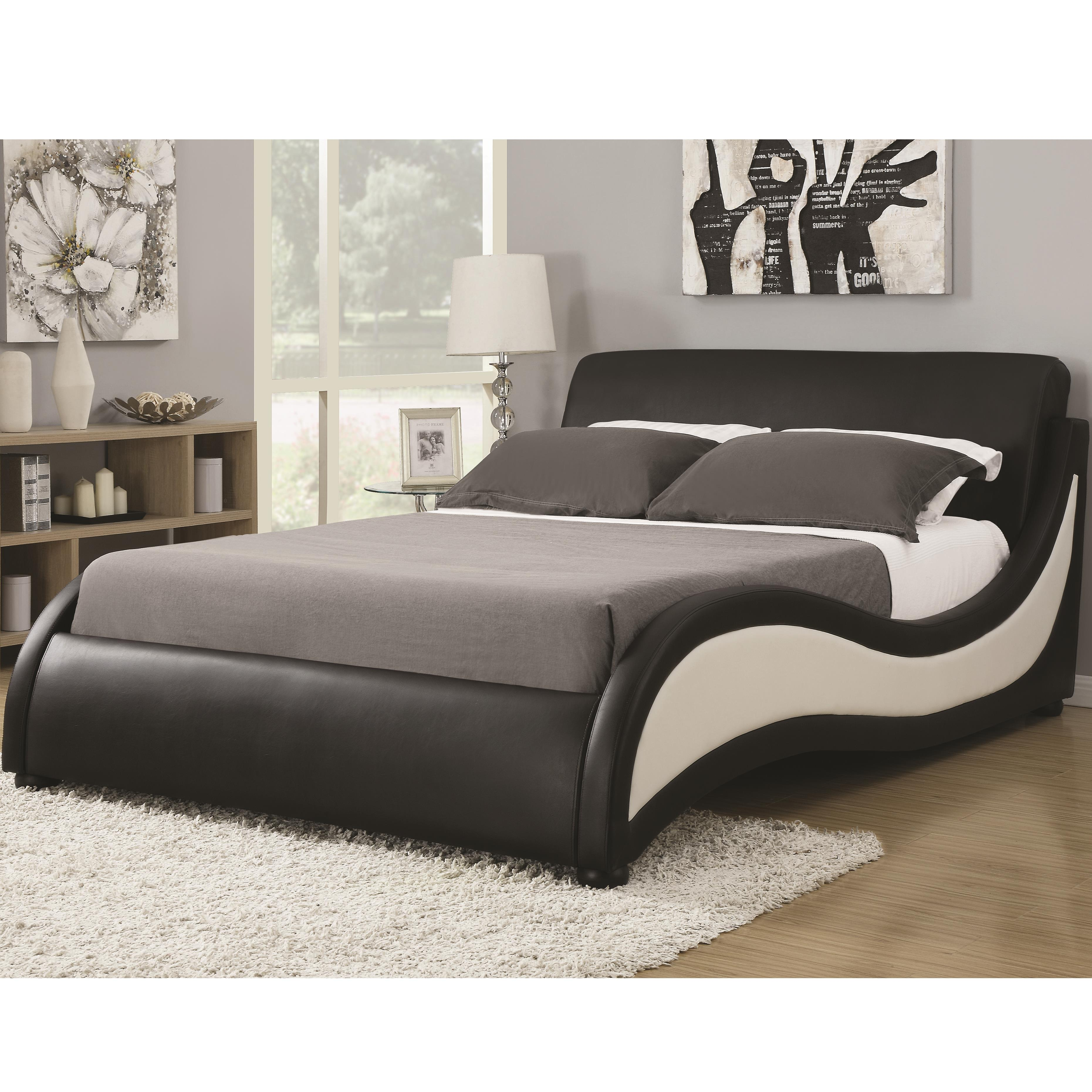 styles of living room chairs kitchen dining plans king niguel modern contemporary platform upholstered bed ...