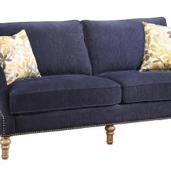 Sofa Nailhead Indoor Wicker Sectional Vessot Transitional With Studs And Feather