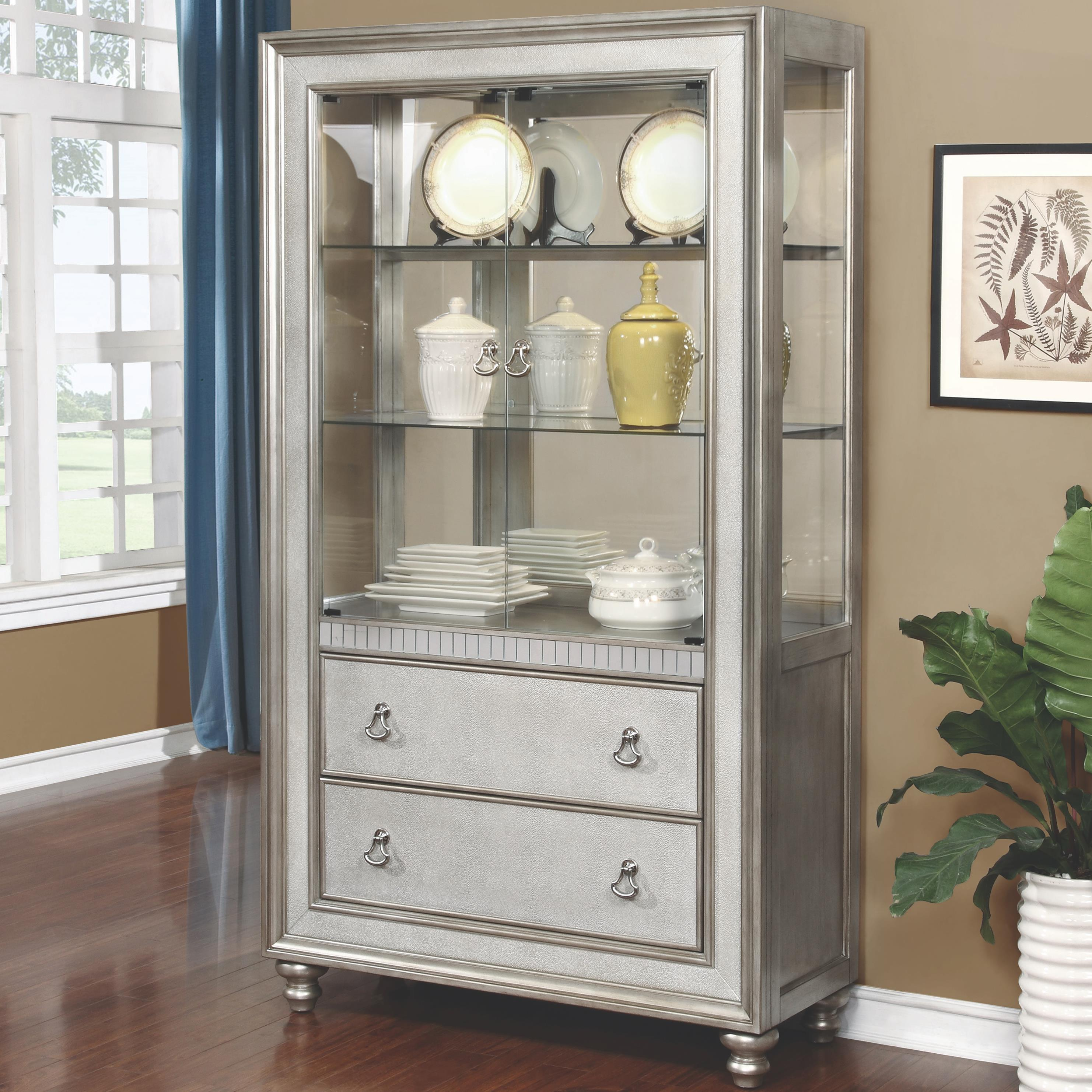 accent chairs on clearance dining canada upholstered bling game curio cabinet with 3 shelves and 2 drawers | quality furniture at affordable prices ...