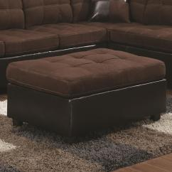 Chocolate Brown Leather Sectional Sofa With 2 Storage Ottomans Finn Juhl Poet Review Mallory Casual And Contemporary Ottoman Quality