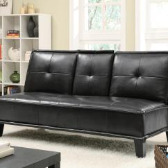 Black Vinyl Futon Sofa Corduroy Corner Bed Beds And Futons  Contemporary