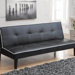 Leatherette Sofa Durability Fabric Cleaner Singapore Beds And Futons – Bed In Black With ...