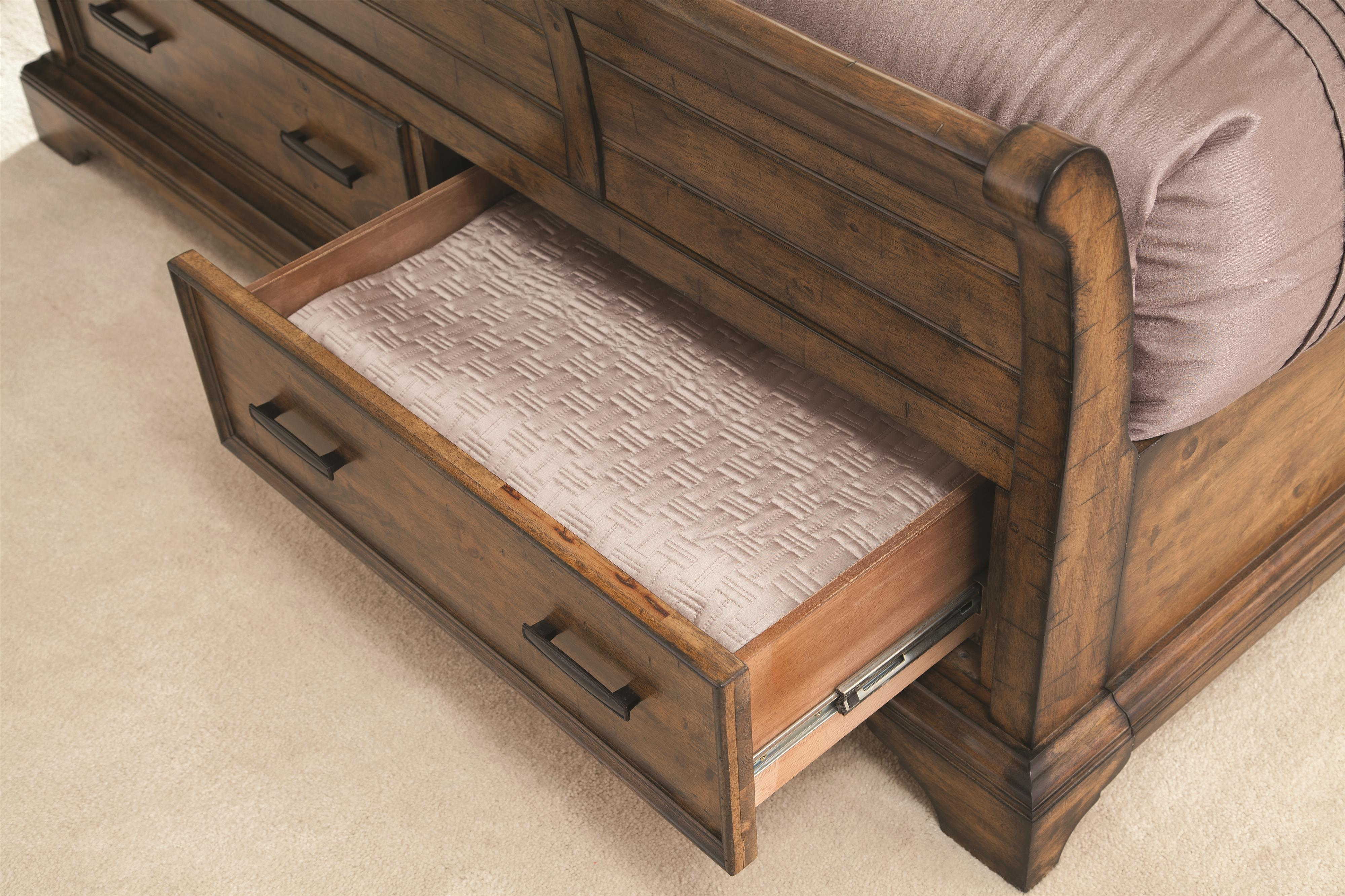 kensington 2 drawer storage sofa bed with footstool bernhardt brae leather elk grove california king sleigh drawers