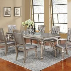 Painted Table And Chairs Mid Century Modern Leather Danette Rectangular 7 Piece Bling Dining Set With Leaf | Quality Furniture At Affordable ...