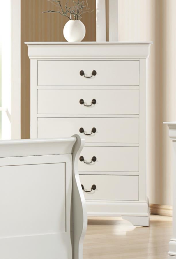 folding chair wall rack rocking baby louis philippe 5 drawer chest white | quality furniture at affordable prices in philadelphia ...