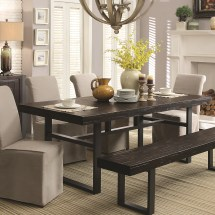Keller Contemporary Rectangular Dining Table With Metal