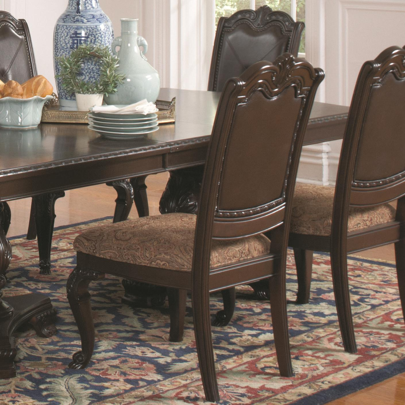 Valentina Traditional Dining Side Chair with Fabric Seat