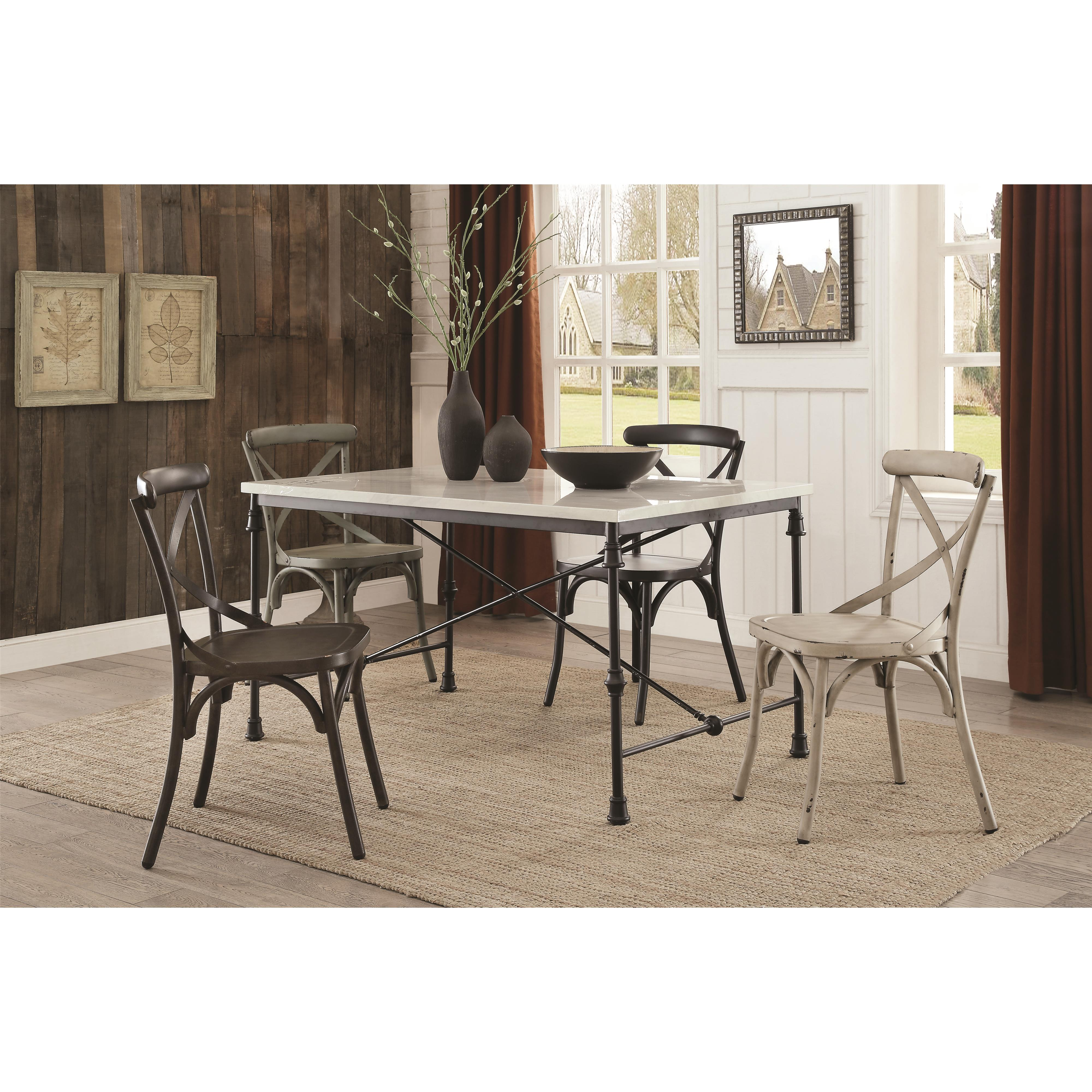rustic metal dining chairs folding chair price in india nagel  white quality