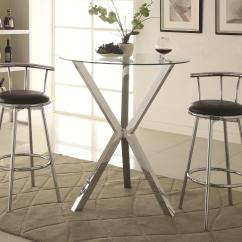 Affordable Kitchen Table Sets Cost Estimator Bar Units And Tables Round Pub With Glass Top ...