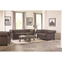 Jamestown 2 Piece Sofa And Loveseat Group In Gray Black Leather Sofas On Finance Roy Traditional Button Tufted With Rolled Back