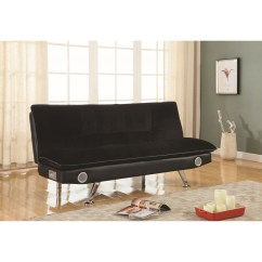 Sofa And Bed Factory Futon Couch Futons Black Leatherette With Bluetooth Speakers