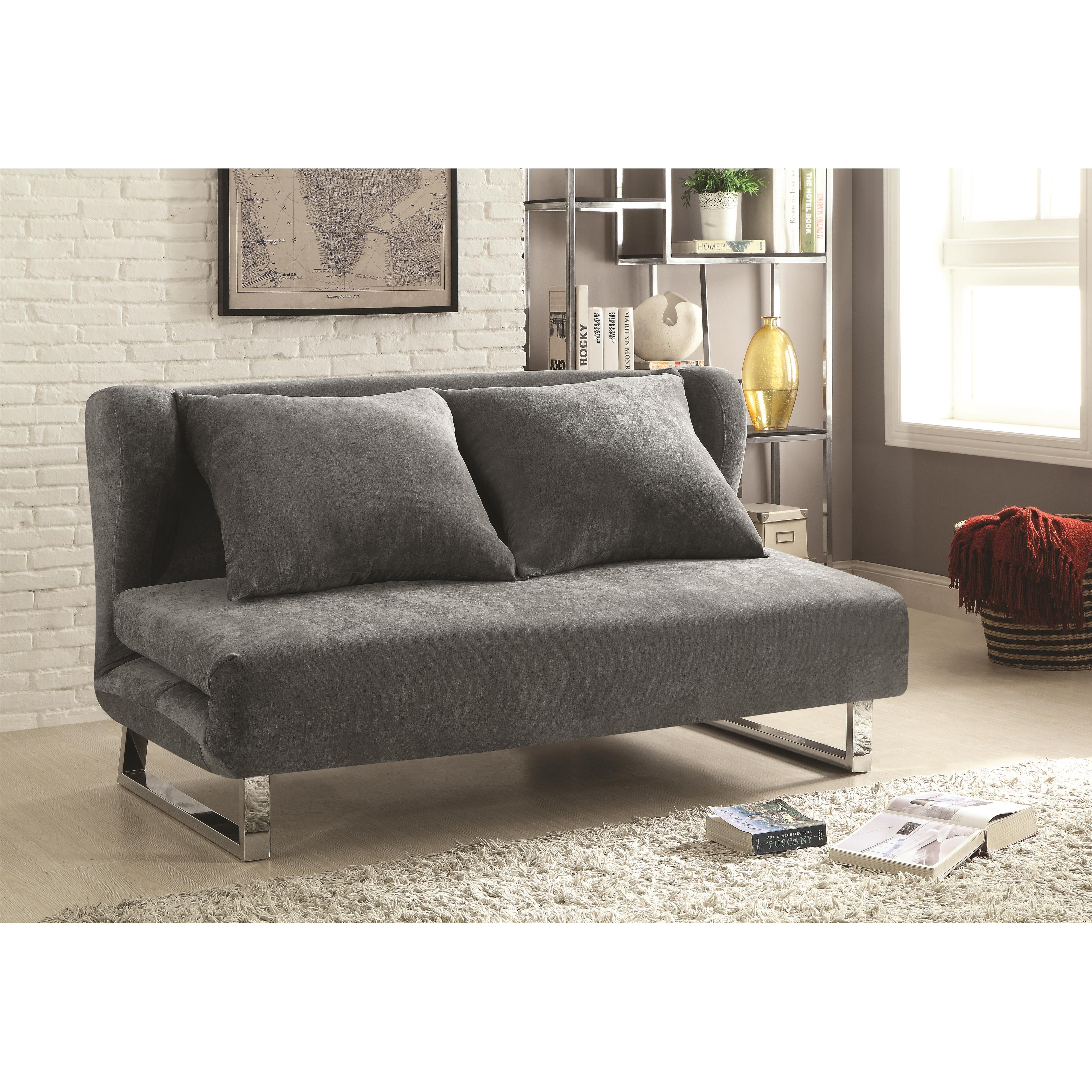 modern line furniture sofa sleepers white slipcover for t cushion beds and futons  transitional velvet bed