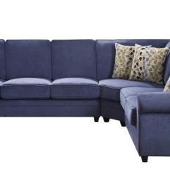 Sectional Sofas With Recliners And Bed Queen Size Leather Sleeper Kendrick Transitional Style Blue Chenille Fabric Casual ...