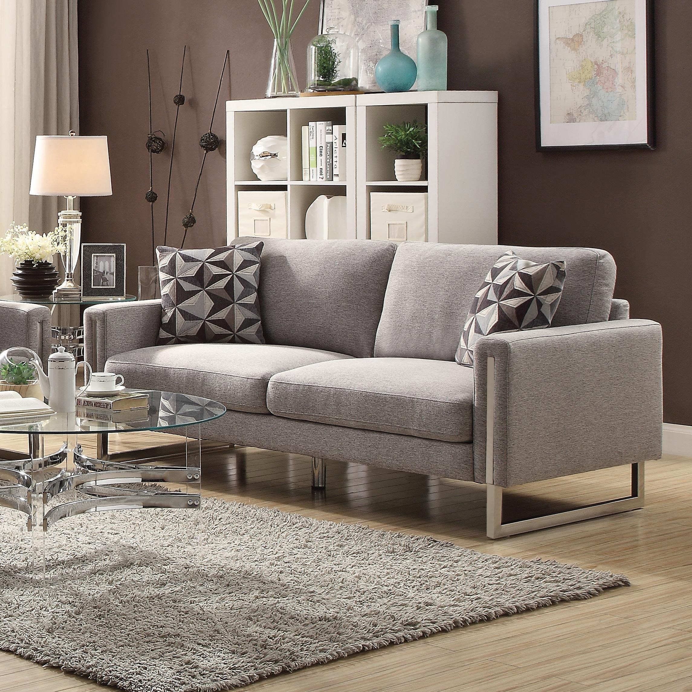 modern sofa dallas bed clearance ex display stellan with u shaped steel legs quality