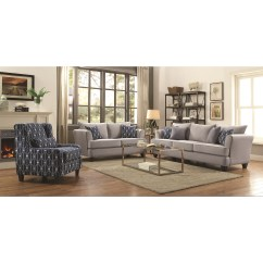 Coaster Bachman Sofa Reviews Children S Chairs And Sofas Hallstatt Casual Flared Arm With Four Toss Pillows