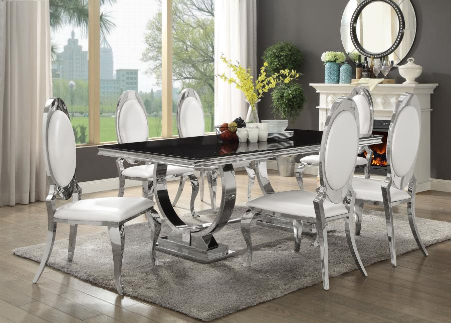 reclining sofa on clearance affordable sleeper antoine 7 piece dining set with stainless steel table ...